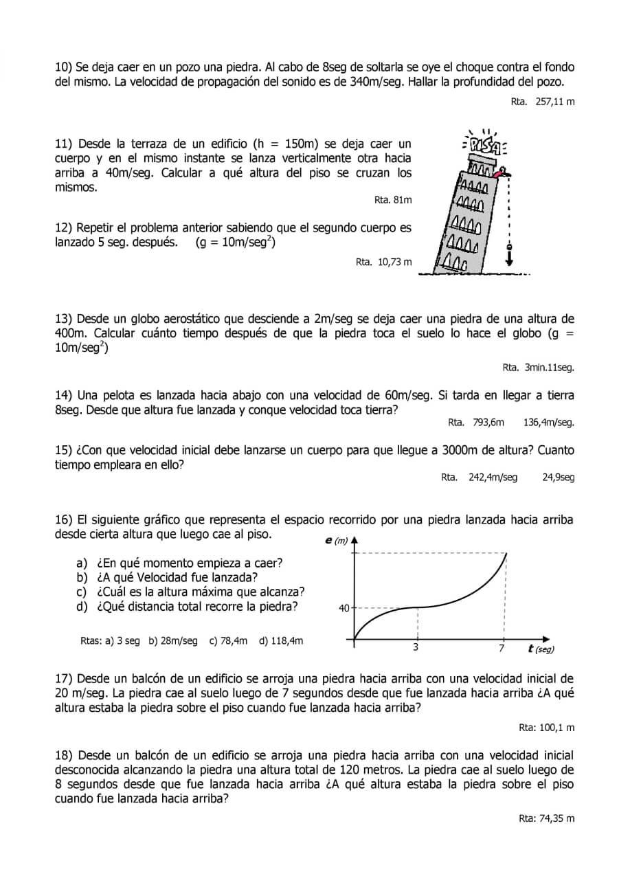 Tiro Vertical Y Caída Libre